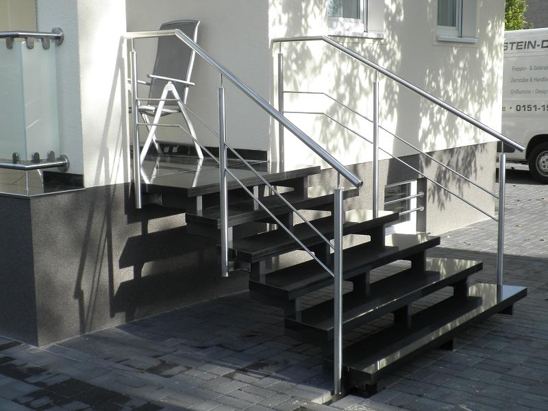 edelstahl naturstein design berlin sch nefeld freitragend freitragende aussentreppen granit. Black Bedroom Furniture Sets. Home Design Ideas